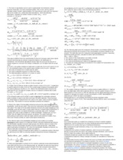 EMA4121 Exam 2 Cheat Sheet