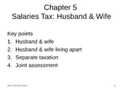 File 05A ppt Chapter 05 - salaries tax (husband  wife)