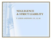 G - NEGLIGENCE & STRICT LIABILITY