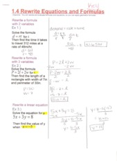 rewriting equations notes