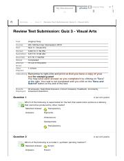 Quiz 3 - Visual Arts – IAS 108 ...