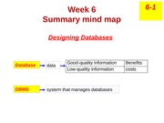 lecture mind map - w6 Designing Database