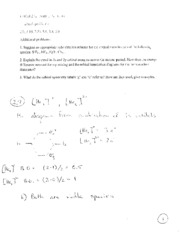CHEM 230 Problem Set #4_key