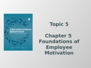 Foundations of Employee Motivation