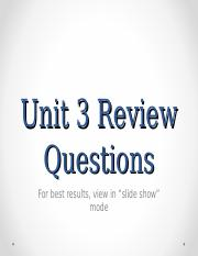 Unit 3 Review Questions.ppt