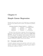 Ch 6 Notes - Simple Linear Regression