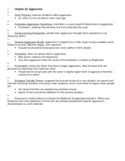 APSY270 Chapter 10 Review Sheet
