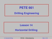 Lecture 14-Horizontal Drilling