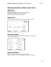 CHEM115_Chapter10_Monosaccharides in their Cyclic Form.doc