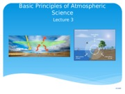Lecture 3 Fundamentals of the Atmosphere(1)