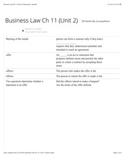 Business Law Ch 11 (Unit 2) flashcards | Quizlet