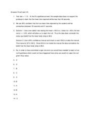 Answers for second Practice Exam