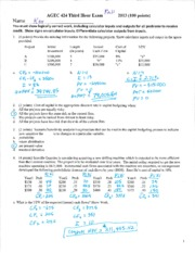Exam 3 Key Fall 2013