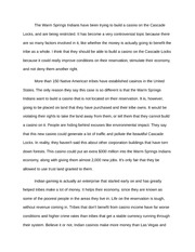 Indian Casinos Speech-Essay