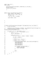 Histogram java - import java util A program for print a