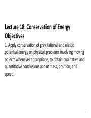 2ndLE Lecture 19 - R8 Conservation of Energy