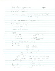 Pre-Calculus Law of Cosines Notes