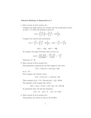 hw 4 solutions