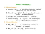 Chemistry 236_Lecture Notes on Bomb Calorimetry