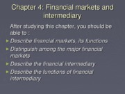 Chapter 4 - Financial Markets