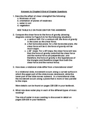 Answers to Chapter 9 End of Chapter Questions