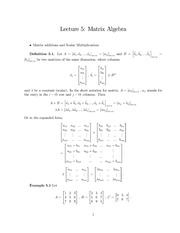 Lecture Notes on Matrix Operations
