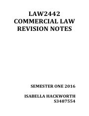 COMM LAW REVISION NOTES S3487754