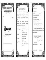 Undangan Lipat Tiga Panitia Peringatan Maulid Nabi Muhammad Saw