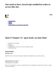Quiz 9 Chapter 12- open book, no time limit: BAD10: American Business in Its Global Context: Section