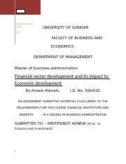 Financial sector development and its impact to Economic development - for merge