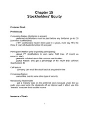 CH. 15-Stockholders Equity