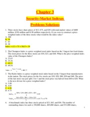 Chapter 3 - Security-Market Indexes - Problems Solutions