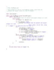 find range code