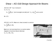 "Shear â€"" ACI-318 Design Approach for Beams"