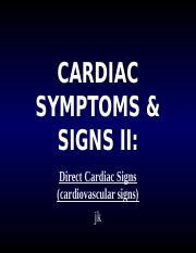 CARDIAC SYMPTOMS & SIGNS IIter 06.ppt