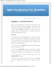 WATERFALL vs. AGILE METHODOLOGY Â« Agile Introduction For Dummies
