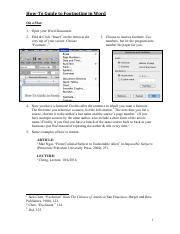 Adding Footnotes in Word-Mac+Windows - 160