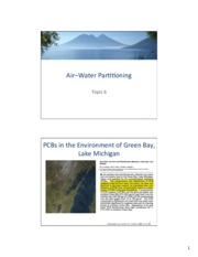 Topic 06 - Air-Water Partitioning