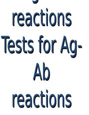 07. Ab Ag reactions