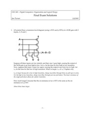 Final Exam Solution Spring 2007 on Introduction to Digital Logic and Computer Design