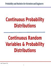 Continuous Random Variables and Probability Distributions Edited 6-18.ppt