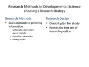 Research Methods in Developmental Science