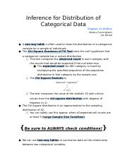 Inference for Distribution of Categorical Data