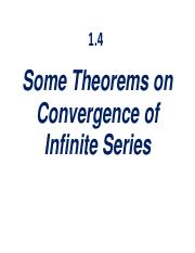 1.4 Some Theorems on Convergence