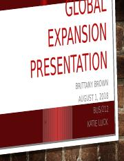 Global Expansion Presentation