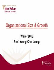 Complete lecture notes_organizational size and growth