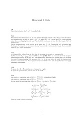 Homework 7 Solution on Real Analysis Fall 2014