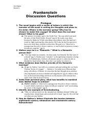 frankenstein seminar questions
