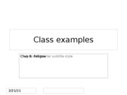 Class examples_Chap 8