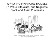 Chapter 9B Revised Applying Financial Modeling to M&As